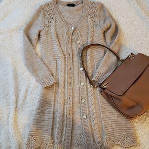 BCBG Maxazria Long Sweater - Medium